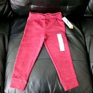 Cat & Jack Maroon Fleece Jogger Sweatpants WT3